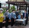 24日、福島駅東口でDAPPE主催の汚染水海洋放出反対の集会。立憲、共産、社民の代表がスピーチ