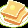 手抜き朝食。健康を気にしつつ簡単に済ませる。
