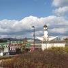 太陽の塔、ふもとでうどん食うの日 #万博公園 #太陽の塔 #うどん #osaka