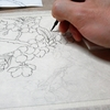 日本画 骨描き(こつがき)の方法。 ~墨の濃さを決める時のポイント~