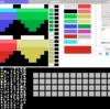 HTML5 MSX1 PCGドット絵ツール(多色刷り用)の進捗。マップエディタを統合しました。