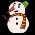 かわいい雪だるま のイラスト