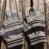 スマホに!犬の散歩に!100均セリアで買った「すべり止めつき2本指ぬき手袋」使いまくり!