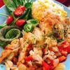 鶏もも肉と夏野菜の蒸し煮〜とうもろこしご飯を添えて〜