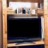 「無印良品の木製ケース」を使ったテレビ棚の片付けレポ。意外なものにピッタリサイズでした。