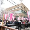 目黒川の桜並木、スターバックス リザーブ ロースタリー 東京もあって激混み。