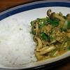 小松菜のチキンキーマカレー。