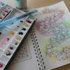 完成】水彩+ボールペンで塗ってみました☆ボールペンでぬり絵「パリの旅」より