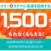 【5月6日まで!】ラクマで最大1500pもらえる!GWキャンペーンでもれなく400円分!!