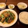 舞岡町の「食香居」でカキとニラの炒め定食