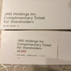 ジンズホールディングス(3046)から優待が到着: 5000円分の割引券