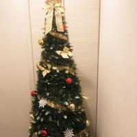 超簡単にクリスマスツリーが完成!オーナメントセット&折りたたんでコンパクト収納のポップアップツリー