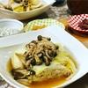 白菜が余った!セールの鶏肉ミンチで重ね煮。味噌としょうがが効いてる!