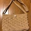 続・KOKUYOの麻ひもで手作り麻ひもバッグ〜松編みポシェット編