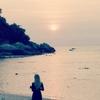 リぺ島の休日(2)サンセットビーチの夕日