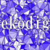 【Processing】Constrained Delaunayを使って、文字でくりぬかれたVoronoi図を作る。