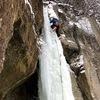 層雲峡 NAKA滝 アイスクライミング