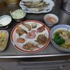 幸運な病のレシピ( 920 )夜:ケンギョ天ぷら、焼きケンギョ、甘エビ刺身、甘エビ味噌汁、汁