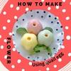 うすらのゆで卵とストローで作る!かわいいお花の作り方