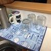 カフェ柄マイクロファイバー水切りマットでちょっと気分が良い100均主婦