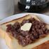 自家製あんこであんバタトースト。あんバタには大納言より普通小豆(4月14日製菓の部)