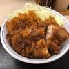 黒胡椒から揚げとチキンカツの合い盛り丼大盛りを食べて気分アゲアゲ!!デブまっしぐらなんか怖くねぇこれは食うっきゃねぇっしょ!!