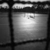 冬のテニスコート