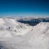 雪の大汝峰と剣ヶ峰