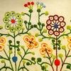 「ぬいとりの花」刺しゅうの図案 1951年