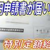 政府から支給される10万円の申請用紙が届いた〜私の10万円の使い道