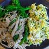 菜花とえのきの炒め物としらすネギ卵