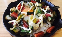 【レシピ】スキレットでカリッとトロッとアボカドスパム丼