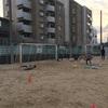 GKトレーニングと砂