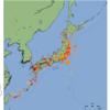 「リアルタイム地震情報データ」~前日の日本の地震発生マップを追加