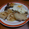 幸運な病のレシピ( 684 ) 夜:汁(ロールキャベツ仕立て直し)、豚ナス卵とじ(仕立て直し)、鯖西京漬け