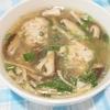 鶏肉団子の中華スープ