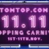 TOMTOPが「11.11セール」を開催中です。新規ユーザー向けの特別セールも有りますよ