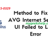 How to Can i Fix Avg UI Failed to Load Windows 10?