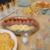 イースターパーティー ミートローフ、餃子の皮で簡単ピザ&キッシュ