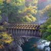 甲斐の猿橋、秋の扇百蔵