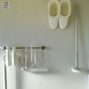 お風呂の掃除道具は白で統一