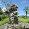 天満宮の拝殿左脇にまつられる庚申塔 福岡県朝倉市中寒水(なかそうず)