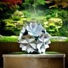 清涼感あふれる「青い桜玉」 〜セリアのマーブル折り紙・続編〜