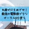 電動歯ブラシ(オーラルB)の正しい使い方|虫歯ゼロを目指す