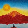 「赤富士と黒猫」