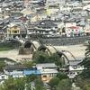 山口県 岩国 いろいろな場所からの「錦帯橋」、町側山側から、ロープウエイから、岩国城天守閣から