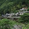 吉野川上流の集落 川上村の中奥地区と井光地区