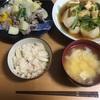 アスパラと豚肉の中華炒め/かぶと油揚げのさっと煮