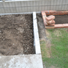 DIYで庭づくり 芝との境目にインターロッキングを作る