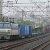 6月9日撮影 東海道線 平塚~大磯間 雨の中貨物列車2本撮影 1097ㇾ 2079ㇾ